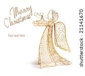 Golden Angel Decoration On...