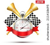 concept banner car racing and... | Shutterstock .eps vector #211418695