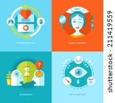 set of flat design concepts for ... | Shutterstock .eps vector #211419559