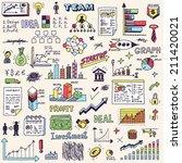 business startup doodle sketch...   Shutterstock .eps vector #211420021