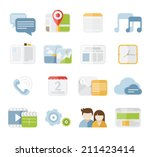 mobile phone isolated vector...