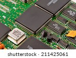 electronic circuit board as an... | Shutterstock . vector #211425061