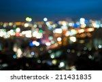 city light blur bokeh ...   Shutterstock . vector #211431835
