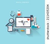 medical flat vector background... | Shutterstock .eps vector #211435204