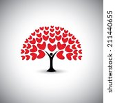 heart or love icons and people... | Shutterstock .eps vector #211440655