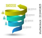 arrow twist up to success... | Shutterstock .eps vector #211441825