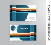 business card template modern...
