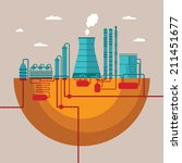 vector concept of refinery... | Shutterstock .eps vector #211451677