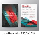 abstract triangle geometric... | Shutterstock .eps vector #211455739