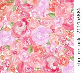 Watercolor Peony Background....