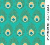 peacock pattern | Shutterstock .eps vector #211461661