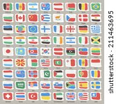 set of world states flags. | Shutterstock .eps vector #211463695