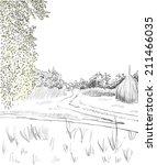 vector illustration  summer... | Shutterstock .eps vector #211466035