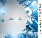 christmas background with fir... | Shutterstock .eps vector #211472149