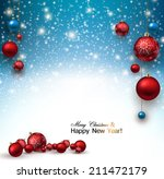 christmas background with red... | Shutterstock .eps vector #211472179