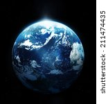Planet Earth Sun Rising From - Fine Art prints