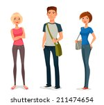 cute cartoon illustration of... | Shutterstock .eps vector #211474654