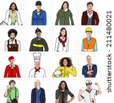diverse people in professional... | Shutterstock . vector #211480021