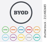byod sign icon. bring your own... | Shutterstock .eps vector #211482685