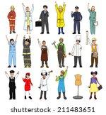 multiethnic group of children... | Shutterstock . vector #211483651