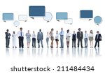 multiethnic group of business... | Shutterstock . vector #211484434