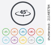 angle 45 degrees sign icon.... | Shutterstock .eps vector #211485784