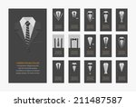 business cards   eps10 vector... | Shutterstock .eps vector #211487587