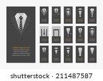 business cards   eps10 vector...   Shutterstock .eps vector #211487587