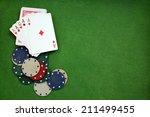 poker cloth  a deck of cards ...   Shutterstock . vector #211499455