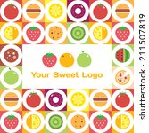 colorful round fruits ... | Shutterstock .eps vector #211507819