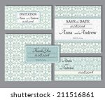 collection of wedding... | Shutterstock .eps vector #211516861
