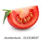 slice of tomato isolated on... | Shutterstock . vector #211518037