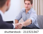 business people handshake ... | Shutterstock . vector #211521367