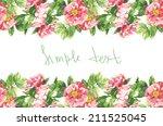 watercolor handmade horizontal... | Shutterstock . vector #211525045