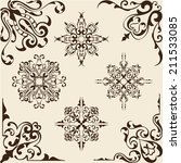 victorian corner set is on beige | Shutterstock .eps vector #211533085