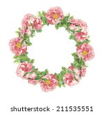 watercolor handmade floral... | Shutterstock . vector #211535551