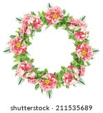 watercolor handmade floral... | Shutterstock . vector #211535689