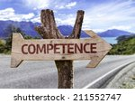 Competence Wooden Sign With A...