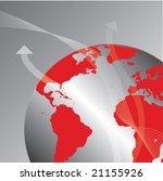 transport around earth globe... | Shutterstock .eps vector #21155926