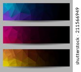 set of banners with abstract... | Shutterstock .eps vector #211566949