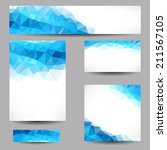 set of templates with abstract... | Shutterstock .eps vector #211567105