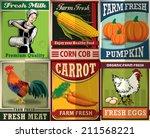Vintage Farm Fresh Poster Set...