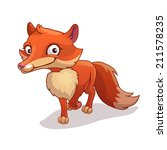 Cartoon Fox  Vector...