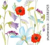 watercolor seamless pattern... | Shutterstock .eps vector #211581925