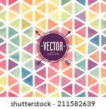 vector watercolor seamless... | Shutterstock .eps vector #211582639