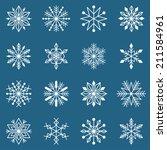 vector set of sixteen different ... | Shutterstock .eps vector #211584961