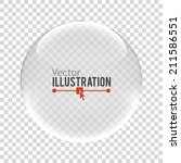 glass sphere. vector... | Shutterstock .eps vector #211586551