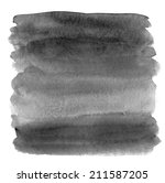 painted black ombre watercolor... | Shutterstock . vector #211587205