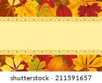 template decorated red and... | Shutterstock .eps vector #211591657