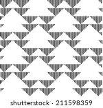black and white geometric... | Shutterstock .eps vector #211598359